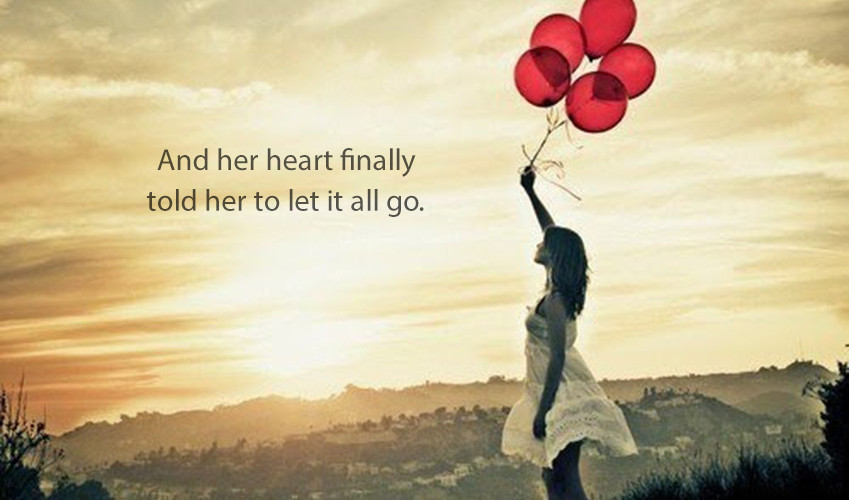 Letting Go Of Expectation Woman With Balloons